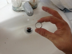 ring in sink