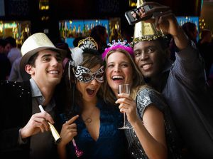 Group of friends celebrating new year   Original Filename: 84372820.jpg